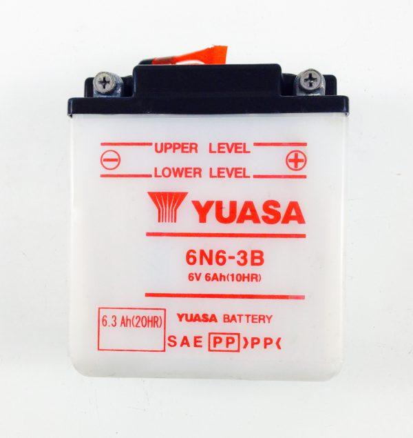 BATTERIA MOTO-SCOOTER YUASA 6V 6AH 6N6-3B