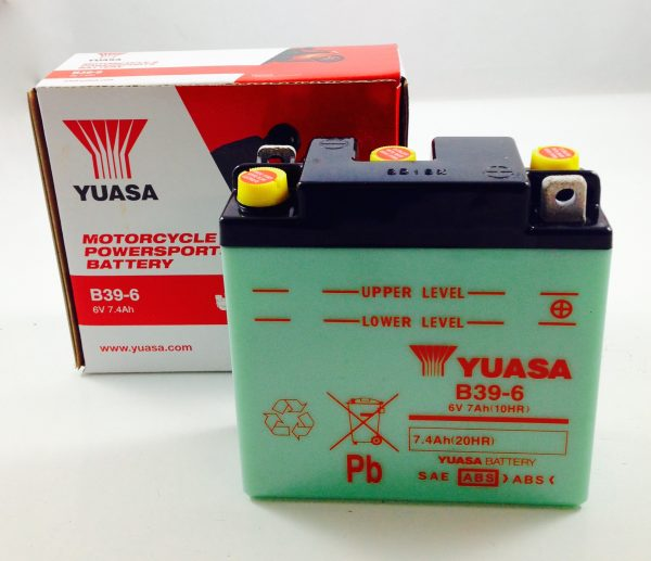 BATTERIA MOTO-SCOOTER YUASA 6V 7AH B39-6