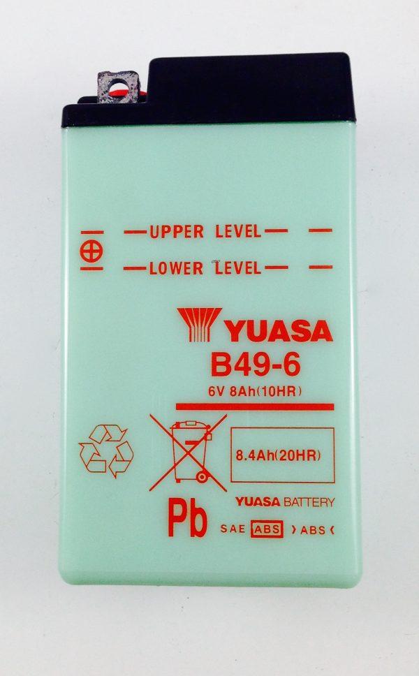 BATTERIA MOTO-SCOOTER YUASA 6V 8AH B49-6