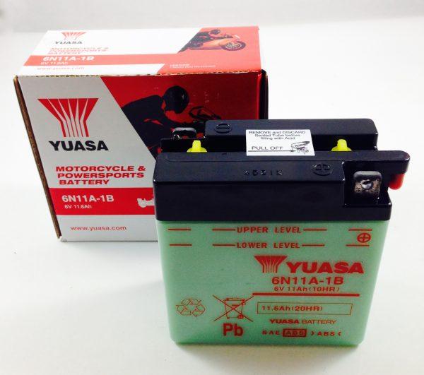 BATTERIA MOTO-SCOOTER YUASA 6V 11AH 6N11A-1B