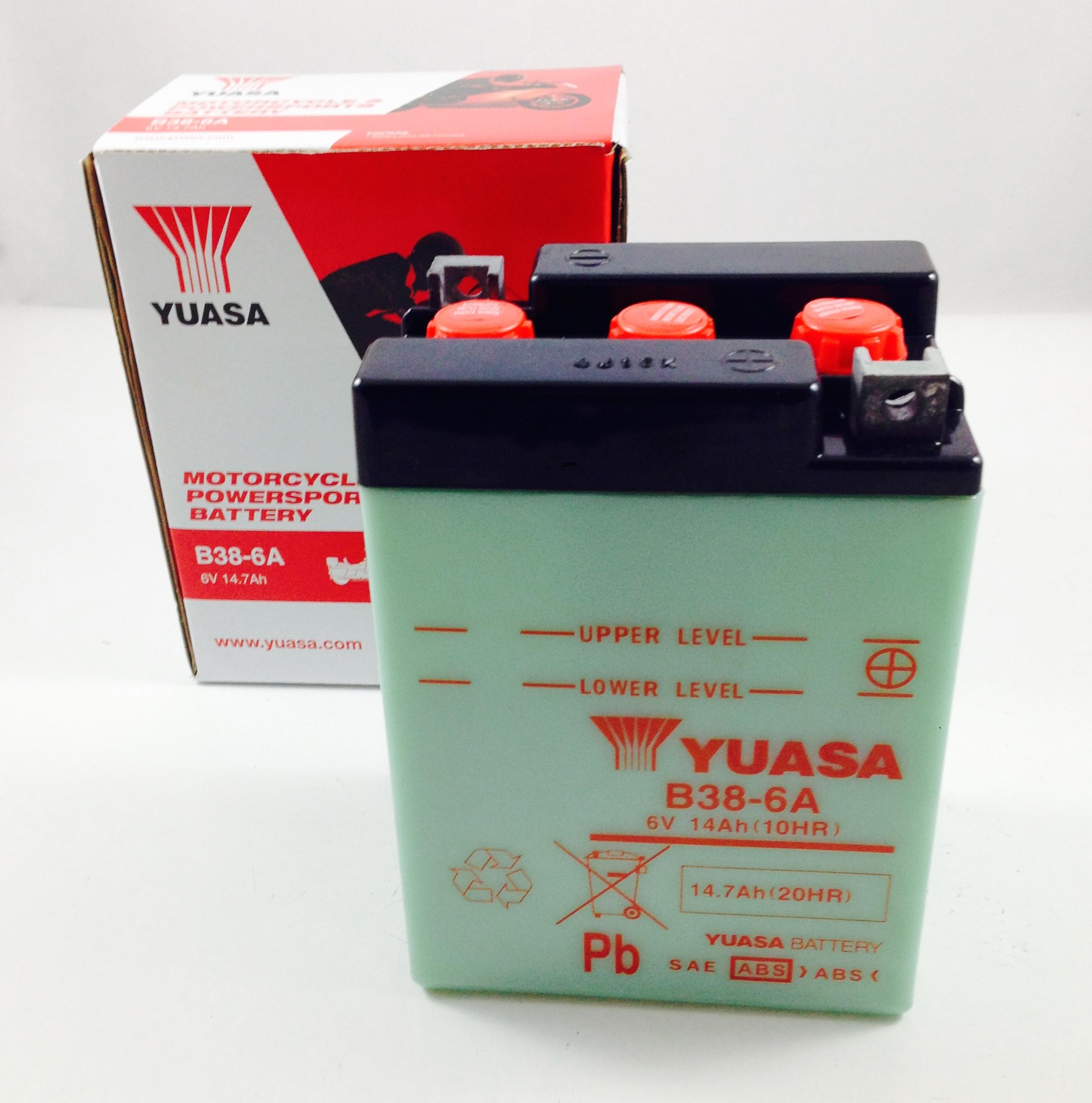 BATTERIA MOTO-SCOOTER YUASA 6V 13AH B38-6A