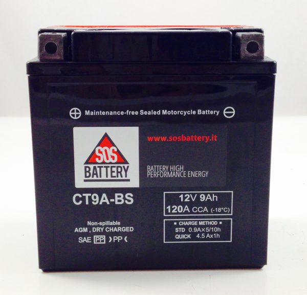 BATTERIA MOTO-SCOOTER SOS BATTERY 12V 9AH BM 211/A SIGILLATA