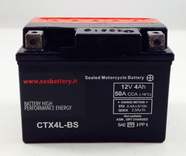 BATTERIA MOTO-SCOOTER SOS BATTERY 12V 4AH BM 300 SIGILLATA