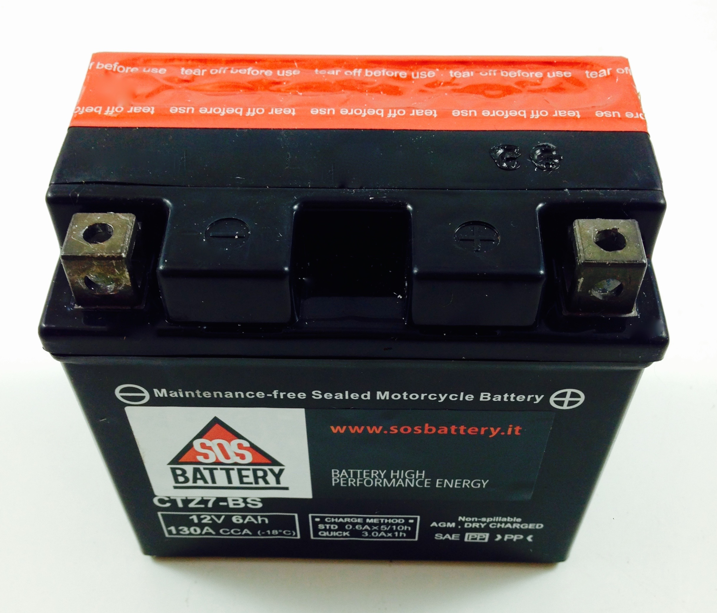 BATTERIA MOTO-SCOOTER SOS BATTERY 12V 6AH BM 620 SIGILLATA