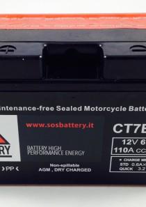 BATTERIA MOTO-SCOOTER SOS BATTERY 12 V 6,5 AH BM 301/A SIGILLATA – CT7B-BS – (AC) CARICA – PRONTA ALL'INSTALLAZIONE