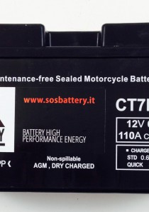 BATTERIA MOTO-SCOOTER SOS BATTERY 12 V 6,5 AH BM 301/A SIGILLATA – CT7B-BS