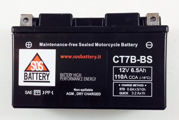 BATTERIA MOTO-SCOOTER SOS BATTERY 12 V 6,5 AH BM 301/A SIGILLATA