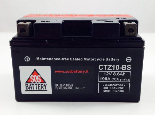 BATTERIA MOTO-SCOOTER SOS BATTERY 12V 8,6AH BM 640 SIGILLATA