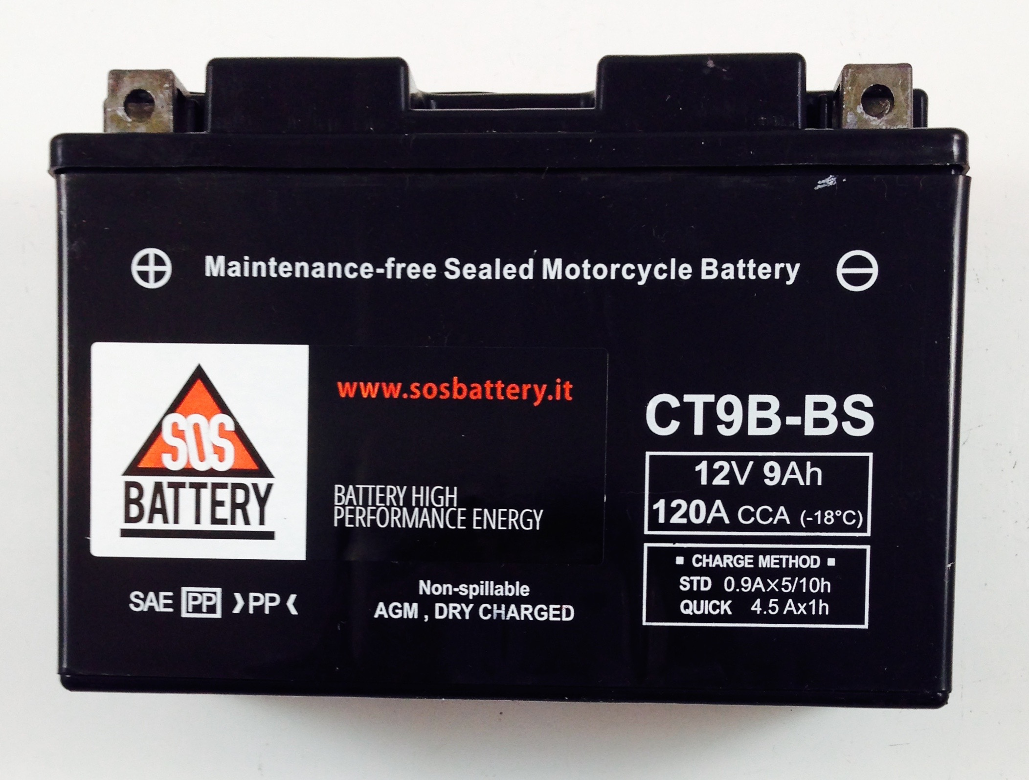 BATTERIA MOTO-SCOOTER SOS BATTERY 12V 9AH BM 302/A SIGILLATA
