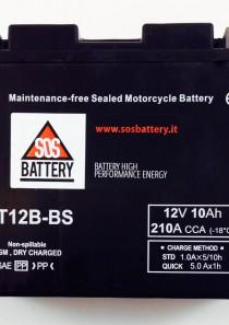 BATTERIA MOTO-SCOOTER SOS BATTERY 12V 10AH BM 303/A  SIGILLATA – CT12B-BS