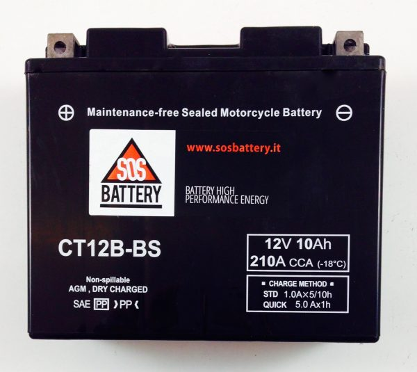 BATTERIA MOTO-SCOOTER SOS BATTERY 12V 10AH BM 303/A SIGILLATA