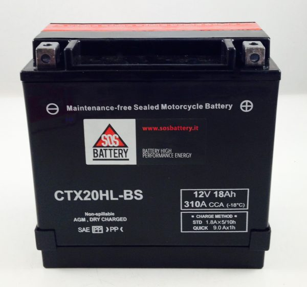 BATTERIA MOTO-SCOOTER SOS BATTERY 12V 18AH BM 306/C SIGILLATA