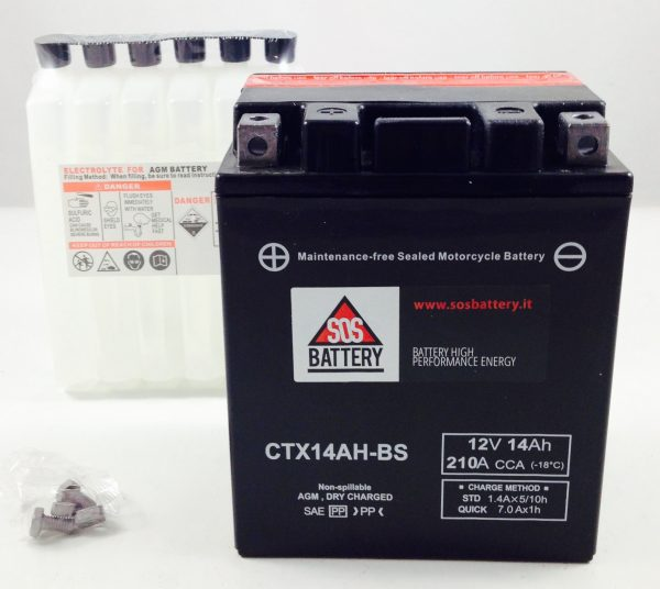 BATTERIA MOTO-SCOOTER SOS BATTERY 12V 14AH BM 217/A SIGILLATA
