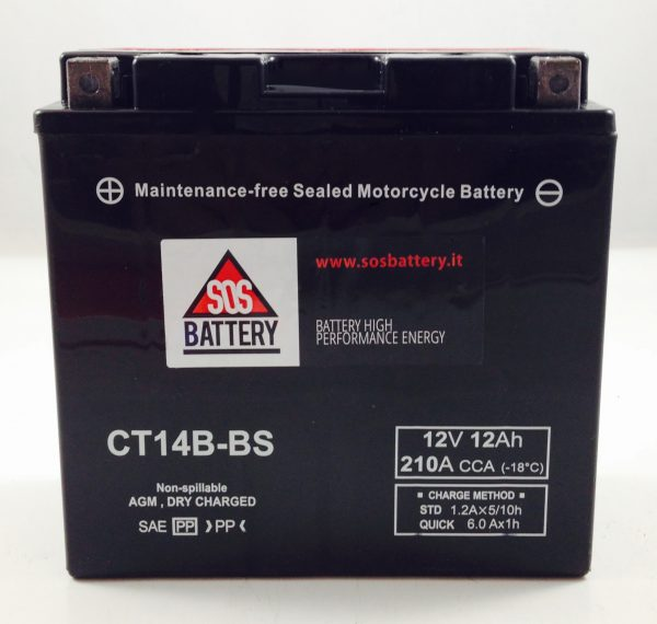 BATTERIA MOTO-SCOOTER SOS BATTERY 12V 12AH BM 303/B SIGILLATA
