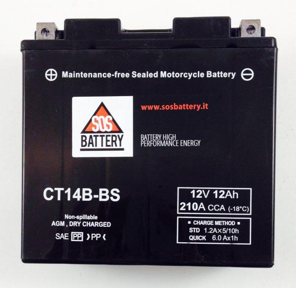 BATTERIA MOTO-SCOOTER SOS BATTERY 12V 12AH BM 303/B SIGILLATA