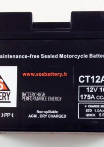 BATTERIA MOTO-SCOOTER SOS BATTERY 12V 10AH BM 302/C SIGILLATA – CT12A-BS