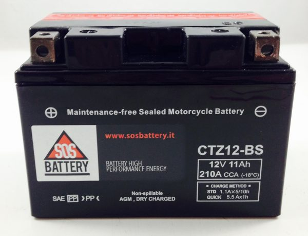 BATTERIA MOTO-SCOOTER SOS BATTERY 12V 11AH BM 660 SIGILLATA