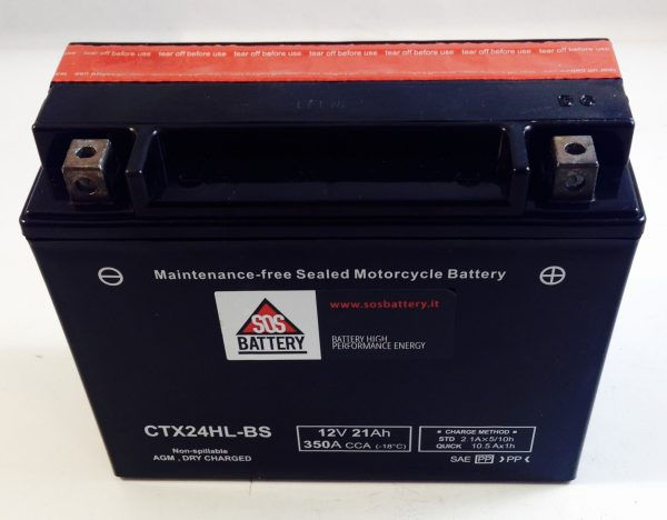 BATTERIA MOTO-SCOOTER SOS BATTERY 12V 21AH BM 224/A SIGILLATA - CTX24HL-BS