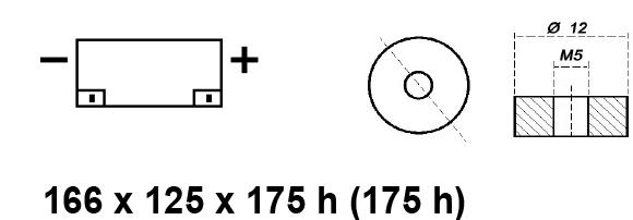 BATTERIA AGM CICLICA 12V 30AH BE12030CY