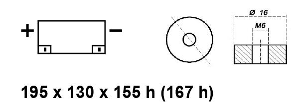 BATTERIA MOBILITY - CARROZZINA ELETTRICA 12V 35AH BE12033CY