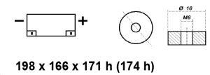BATTERIA MOBILITY - CARROZZINA ELETTRICA 12V 45AH BE12045CY