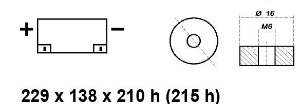 BATTERIA MOBILITY/CARROZZINA ELETTRICA 12V 55AH BE12055CY