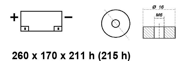 BATTERIA MOBILITY/CARROZZINA ELETTRICA AGM 12V 80AH BE12080ACY