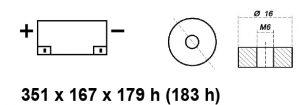 BATTERIA MOBILITY/CARROZZINA ELETTRICA AGM 12V 80AH BE12080BCY