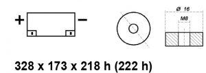 BATTERIA MOBILITY/CARROZZINA ELETTRICA AGM 12V 120AH BE12120CY